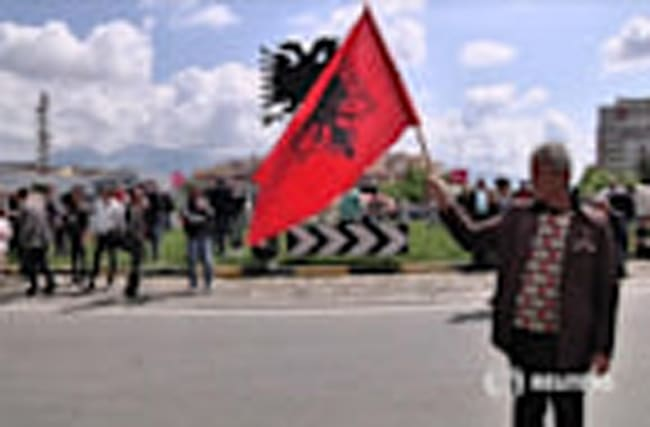 Albania's opposition party block main roads in protest for fair elections