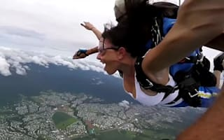 Woman passes out during skydive