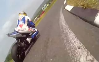Video: Bikers battle for position in dramatic high speed feud