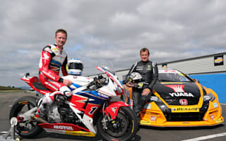 TT legend and BTCC champion swap machines and race