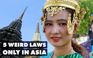 Five weird laws to look out for when you're in Asia