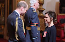 'Dream big and work hard': Victoria Beckham is 'humbled' as she receives OBE