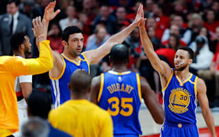 Warriors sweep Trail Blazers, Raptors claim key win