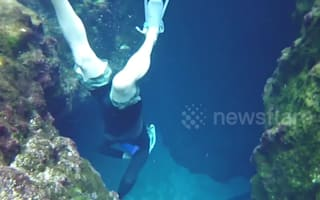 Divers explore Blue Hole Spring in Florida