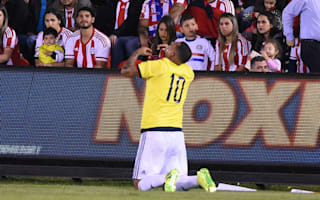 Paraguay 0 Colombia 1: Substitute Cardona secures last-gasp victory