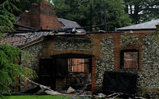 Claudia Schiffer's Suffolk mansion hit by fire