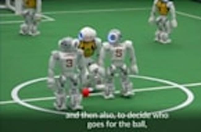 Soccer robots compete in tournament