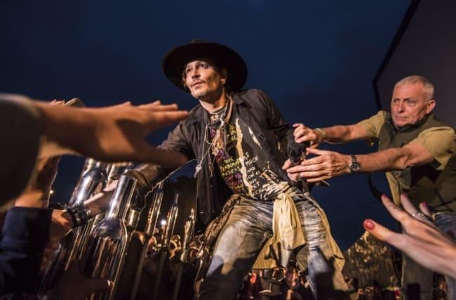 Johnny Depp jokes about Donald Trump assassination at Glastonbury event