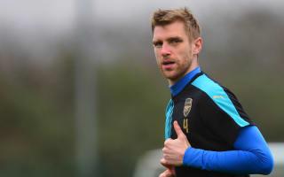 Mertesacker provides Arsenal fitness boost
