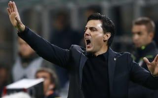 Montella warns AC Milan stars: Don't let first-place prize trap you
