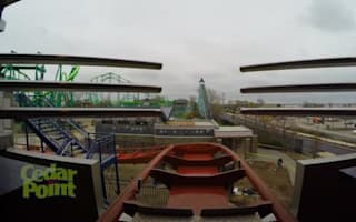 GoPro films terrifying journey of a rollercoaster