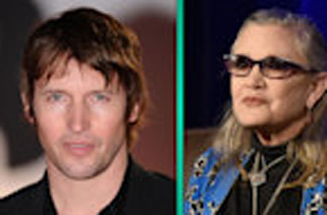 James Blunt's Touching New Song Debut's at Carrie Fisher and Debbie Reynolds' Memorial Service