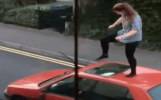 Woman launches furious attack on car in Wiltshire