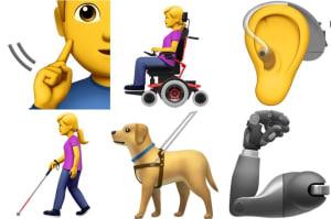 Apple ha diseñado estos emojis para las personas con discapacidades