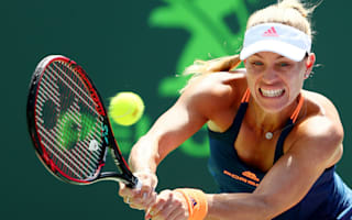 Kerber, Halep ease into last 16 at Miami Open