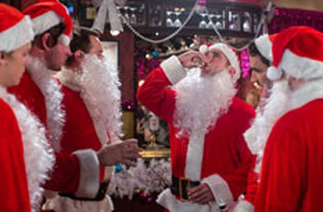 Ho ho no! It's a Santa stag do for EastEnders' Jack Branning