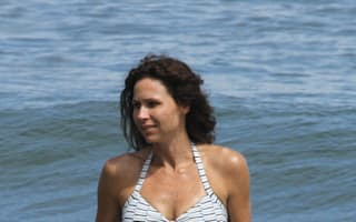 Minnie Driver makes a splash on family day out in Malibu