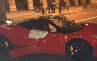 Rapper Lethal Bizzle 'cheats death' after smashing Ferrari 458