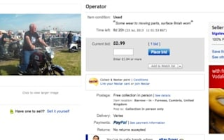 Man fails to sell himself on eBay - for 99p