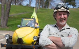 Banana car creator seeks food-based drag race