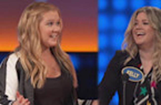 Amy Schumer and Kelly Clarkson Hilariously Face Off on 'Celebrity Family Feud' -- Watch!