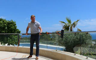 Millionaire flies window cleaner 1,000 miles to clean holiday villa