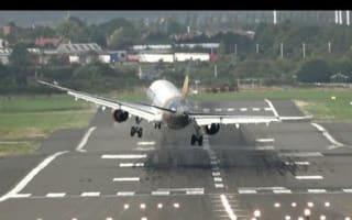 Plane caught in crosswind misses landing at Birmingham