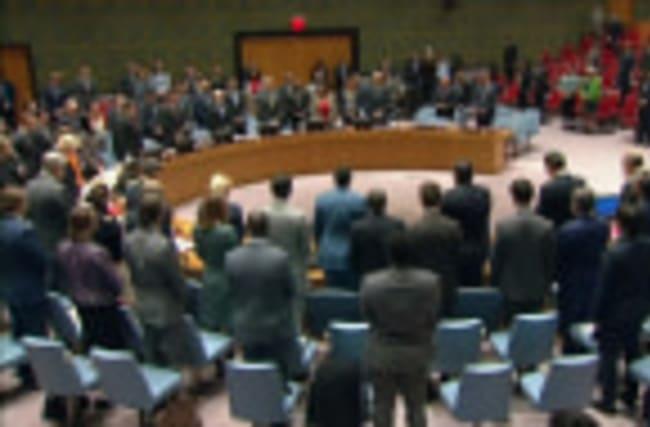 Boris Johnson leads minute of silence at U.N.