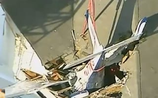 Video: Plane crashes into apartment building in Virginia
