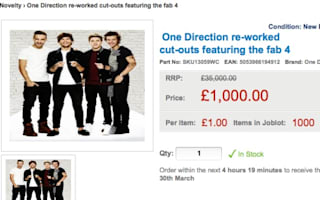 Genius plan to sell 1,000 One Direction cut-outs featuring Zayn Malik