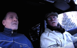 Rally ace Petter Solberg dons disguise and scares mechanics