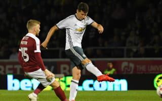 Northampton Town 1 Manchester United 3: Mourinho's men avoid Sixfields shock