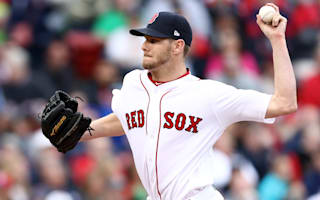 Sale strikes out 12 in first win for Red Sox, Bryant hits scoreboard