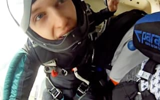 Skydiver near-death drama as parachute opens early - next to helicopter blades