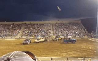Video captures terrifying moment driveshaft is launched into crowd