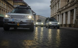 Range Rover hybrids drive from Solihull to Mumbai