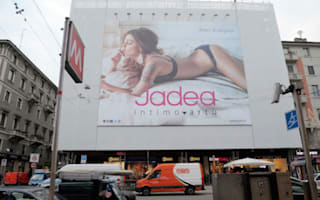Italian police remove lingerie advert deemed a distraction
