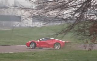 Watch Kimi Raikkonen spin a LaFerrari during testing