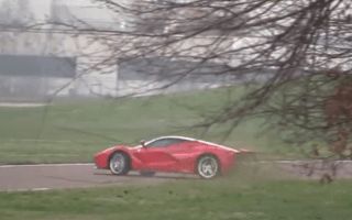 Watch Kimi Raikkonen spin a LaFerrari during testing