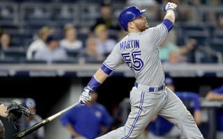 Martin lifts Blue Jays, Mazara hits big for Rangers