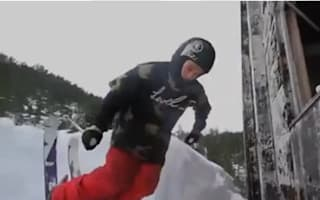 Video: Daredevil skis through five-storey building in Alaska