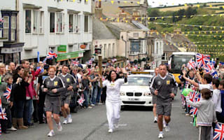 Olympic torch travels from Plymouth to Exeter today