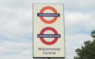 Walthamstow station misspelled 'Waltamstow'