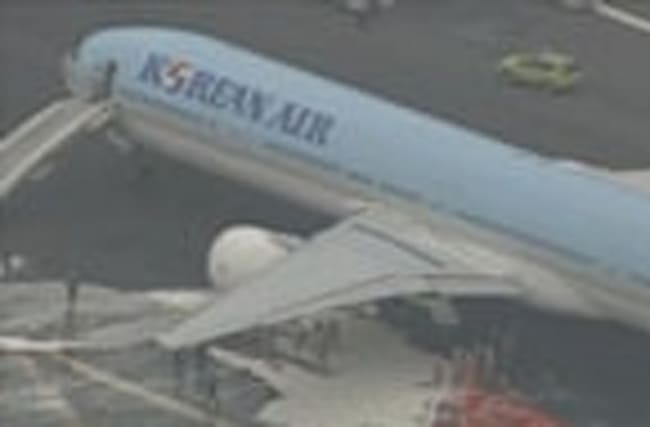 Engine smoke grounds plane on Tokyo runway
