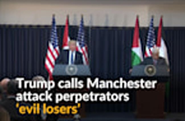 Manchester attack perpetrators are 'evil losers', Trump says
