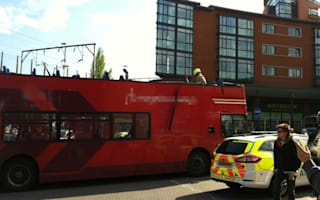Double decker bus roof ripped off by railway bridge in Chelmsford