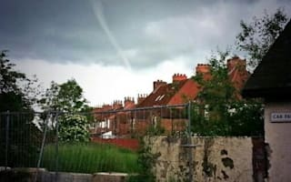 'Tornadoes' appearing across Britain ahead of thunderstorms (pictures)