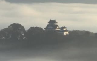 Beautiful castle in the sky appears in Japan (video)