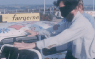 Classic video shows man racing on circuit blindfolded