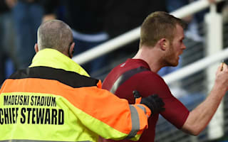 Brunt 'disgusted and ashamed' after being hit by coin thrown by West Brom fan
